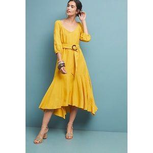 NWT ANTHROPOLOGIE MAEVE Gold Artemis Midi Dress 14